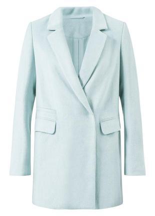 Нежно-голубое пальто с шерстью в составе new look небесно-голубое пальто с ворсом
