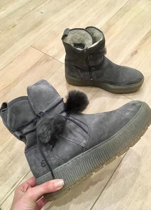 Зимові черевички з натуральної замші від tamaris!!!