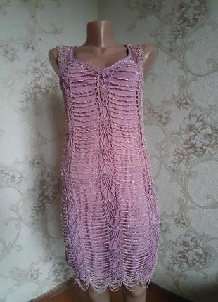 Коктейльное платье из бисера.