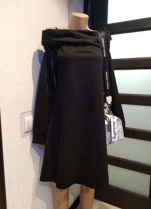 Спортшик чёрное платье бохо оверсайз трикотажное