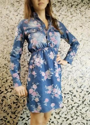 Платье джинсовое в цветах cgx