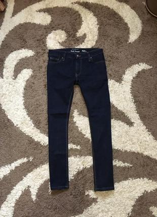 Сині джинси скіні завуженні river island