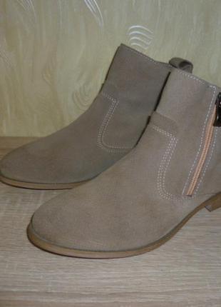 Демисезонные ботинки tamaris (тамарис) замша 39р.