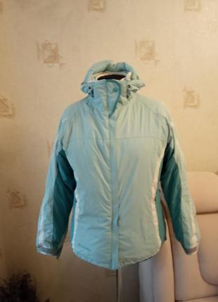 Спортивная лижная теплая куртка двойка