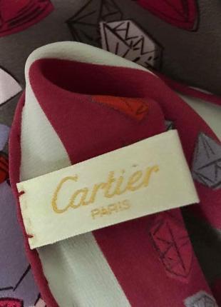 100% шелковый платок cartier