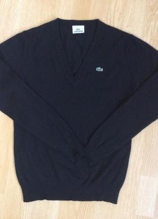 Чорного цвета  шерстяной свитерок  ,lacoste, 38