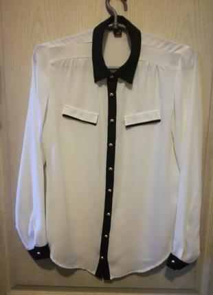 Приталеная блуза длинный рукав