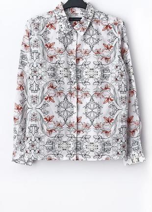 Легкая рубашка с примесью шелка marks&spencer • р-р 16\44 (xxl), можно и на xl