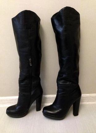 Кожаные сапоги италия (ботинки в подарок)