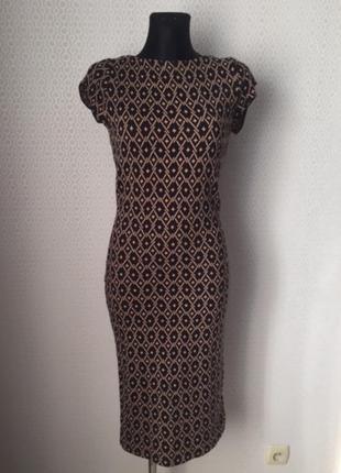 """Очень эффектное """"и в пир, и в мир"""" трикотажное платье футляр от zara, размер м"""