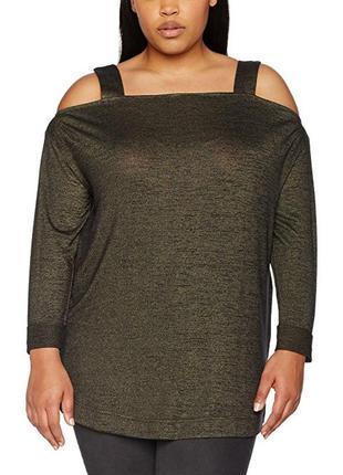 Трикотажная блуза dark khaki  new look thick strap