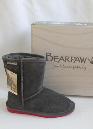 Зимние сапоги фирма bearpaw, америк. разм-2 европейск-32, стелька-21 см
