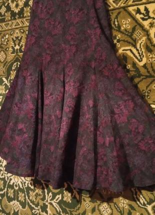 Стильная шерстяная юбка макси годе mondi германия
