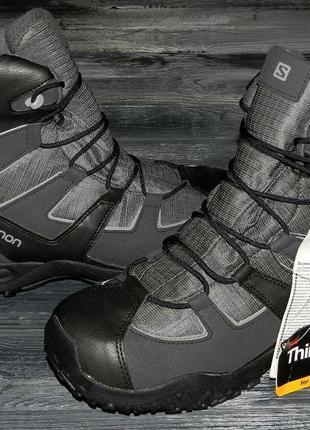 Новые! salomon clima shield ! оригинальные невероятно крутые термо ботинки осень-зима