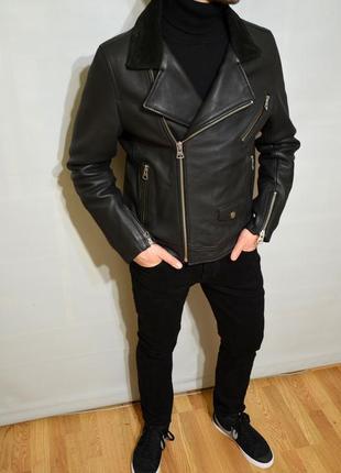 H&m limited edition, косуха, кожаная куртка, натуральная кожа