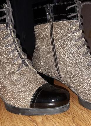 Элегантные полусапожки (высокие ботинки). италия.