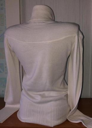 Нарядная белая водолазка, свитер с горлом
