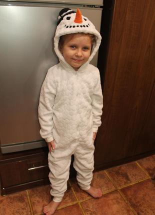 Костюм снеговик для ребенка 4-7 лет