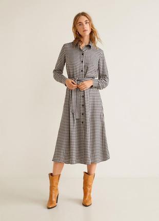 Новое платье - рубашка в клетку виши {бесплатная доставка}
