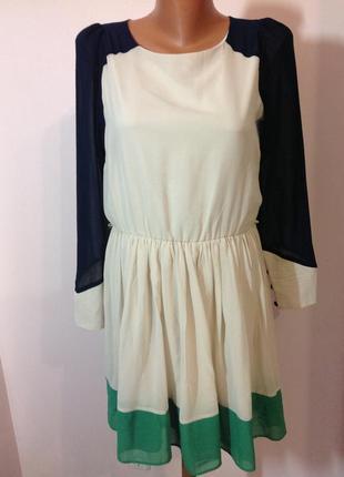 Оригинальное 3 х цветное платье. /m/ brend atmosphere