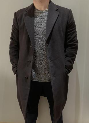 Кашемировое пальто armani collezioni