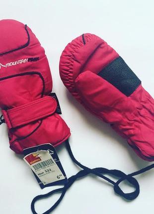 Термо перчатки варежки, краги mountain peak утеплитель thinsulate новые 122 6-8 лет