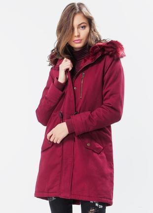Парка jennyfer xs стильная теплая куртка оригинал