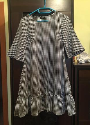 Платье с воланами boohoo