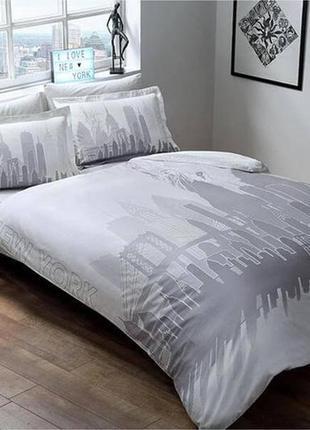 Двуспальное евро постельное белье tac new york сатин (светится в темноте)