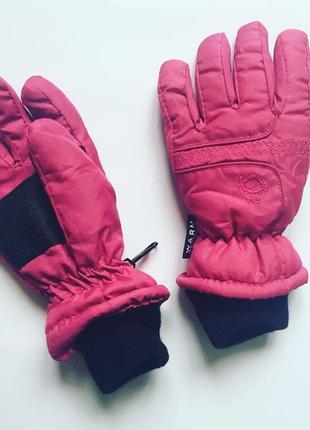 Термо перчатки варежки розовые краги dimo tex, 5 лет