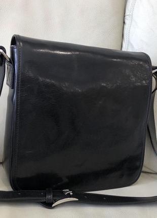 Кожаная сумка сумка из натуральной кожи италия мужская сумка- планшет шкіряна сумка