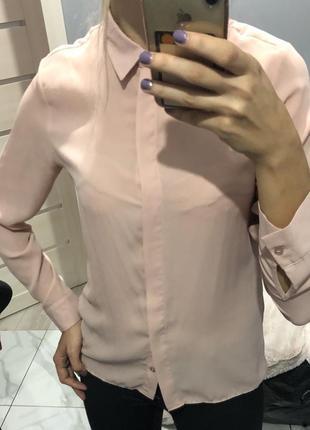 Рубашка пудра блуза s