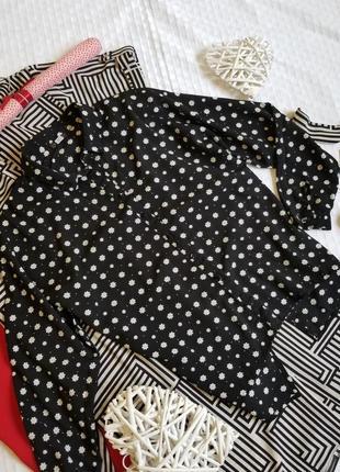 🌾 стильная чёрная блузка оверсайз river island в цветы