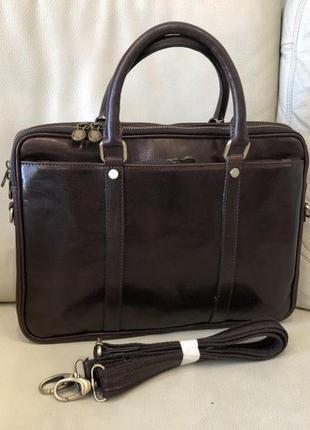 Кожаная сумка сумка из натуральной кожи италия портфель сумка под ноутбук шкіряна сумка