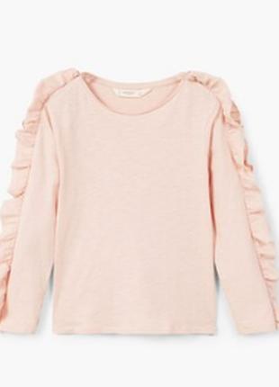 Блуза реглан с воланами