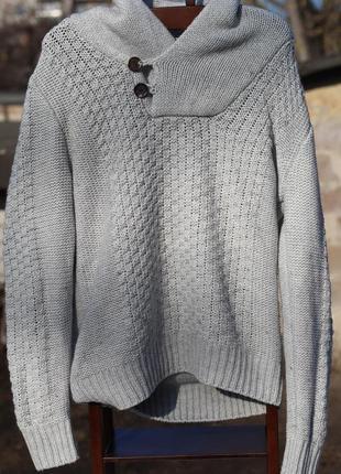 Стильный теплый мужской свитер divided на высокого