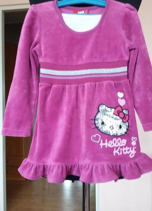 Фирменное платье hello kitty(оригинал) на 3 года