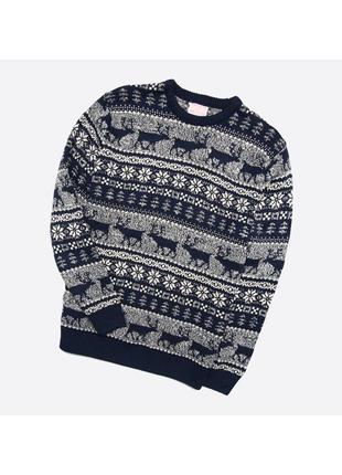 George xl / мужской плотный тёплый вязаный свитер в узор