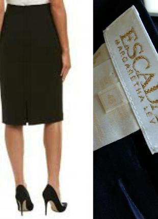 Escada - брендовая юбка карандаш. тонкая шерсть. xl,xxl