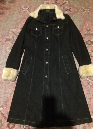Пальто джинсовое