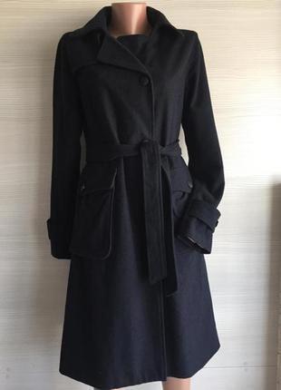 Пальто шерсть с накладными карманами massimo dutti