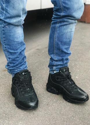 Кроссовки  мужские демисезонные nike air max 95 sneakerboot черные