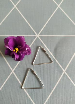 Срібні сережки трикутник, серьги треугольник kingsley ryan asos