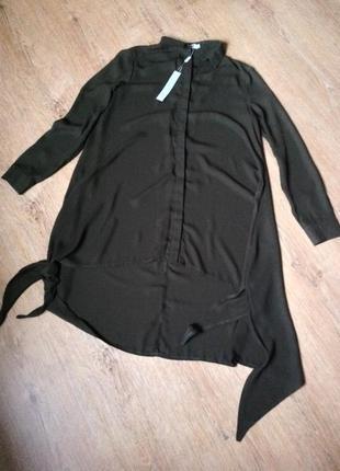 Платье- рубашка свободное  размер 10