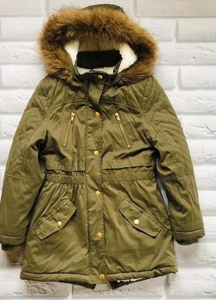 George  стильная зимняя куртка-парка на девочку  9-10 лет