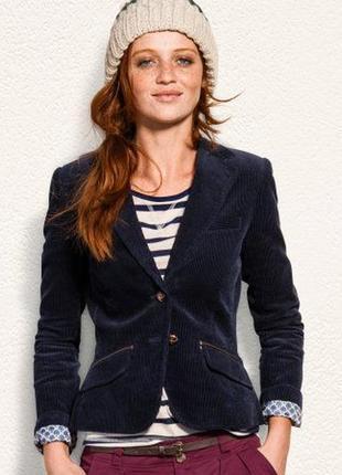 Вельветовый темно- синий пиджак  h&m (огромный выбор пиджаков)
