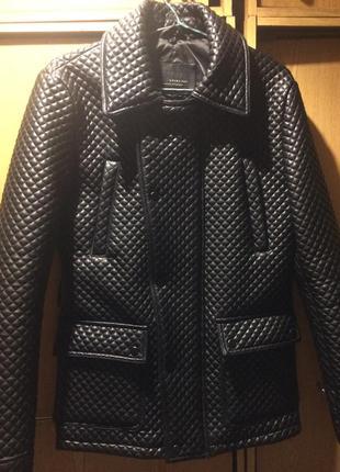 Куртка кожаная мужская zara