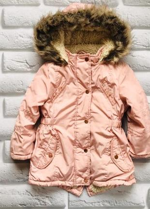 Young dimension  стильная  куртка-парка еврозима  на девочку  2-3 года