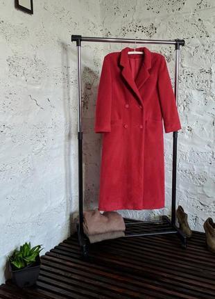 Трендовое пальто прямого кроя шерсть