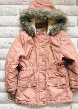 George стильная зимняя куртка на девочку  5-6 лет